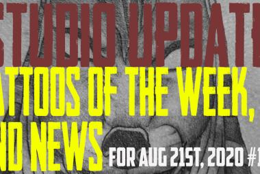 Tattoos of the Week from Jack, Westley, and Jimmy. Also Piercing and Content News from DaVo - Studio Update for Aug. 21, 2020 #110 - https://youtu.be/pbWqa_Fzgls